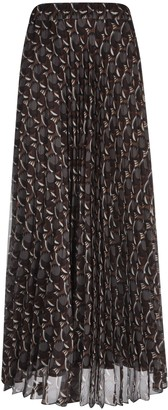 P.A.R.O.S.H. Pleated Printed Long Skirt
