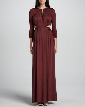 Rachel Pally Jazz Long Cutout-Waist Jersey Dress