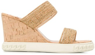 Casadei Slip-On Wedge Sandals
