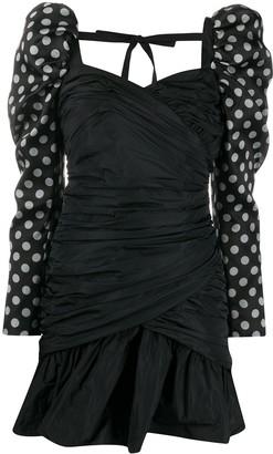 Giuseppe di Morabito Long-Sleeve Polka Dot Cocktail Dress