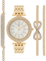 INC International Concepts Women's Rose Gold-Tone Bracelet Watch & Bracelets Set 34mm IN002G, Only at Macy's