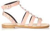 Balenciaga Amp stud-embellished leather gladiator sandals