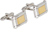 Oxford Cufflinks Two Tone Slvr/Gl X