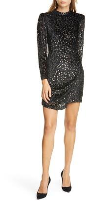 A.L.C. Jane Devore Long Sleeve Minidress