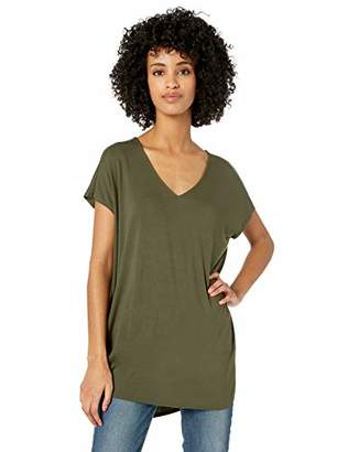 Amazon Brand - Daily Ritual Women's Jersey Dolman-Sleeve V-Neck Tunic