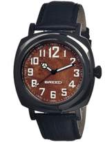 Breed Mozart Wood-dial Leather-band Watch.