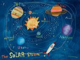 Oopsy Daisy Fine Art For Kids Canvas Wall Art Solar System by Donna Ingemanson, 24 by 18-Inch