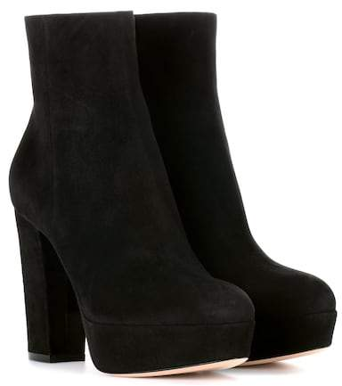 Gianvito Rossi Exclusive to mytheresa.com – Suede platform ankle boots