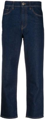 Twin-Set Midi Rise Cropped Jeans