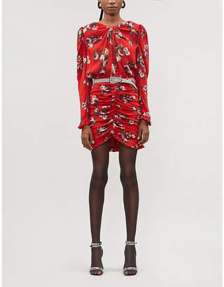 Magda Butrym Barletta floral-print silk-crepe mini dress