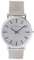 Frank + Oak Leonard & Church Varick Watch In Silver
