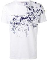 Moncler stitched motif T-shirt - men - Cotton/Acrylic/Polyester - M