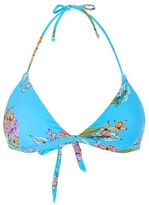 Topshop Tropical print tie detail bikini top