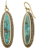 Barse FINE JEWELRY Art Smith by Brass & Turquoise Drop Earrings