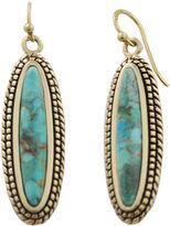 Barse FINE JEWELRY Art Smith by Brass & Turquoise Drop Earrings