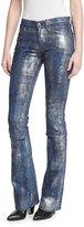 Ralph Lauren 867 Coated Boot-Cut Jeans, Mercury Indigo