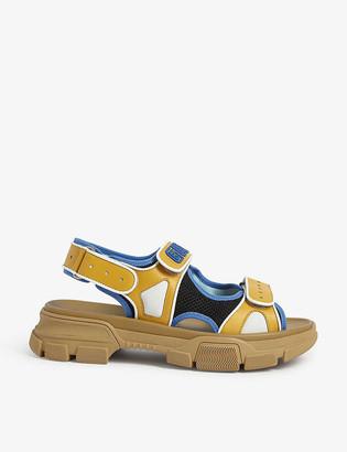 Gucci Aguru Trek brand-embellished leather gladiator sandals