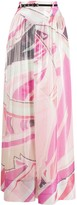 Emilio Pucci abstract print long skirt