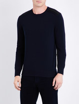 Salvatore Ferragamo Crewneck wool and cashmere-blend jumper