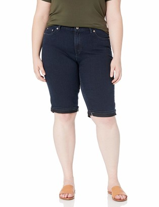"Dickies Women's Plus Size Slim Fit 13"" Denim 5-Pocket Cargo Short"