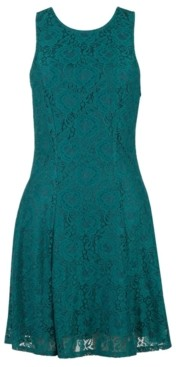 Speechless Juniors' Lace Fit & Flare Dress