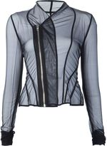 Rick Owens Lilies sheer draped 'Princess' fitted jacket