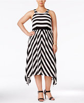INC International Concepts Plus Size Striped Halter Dress, Only at Macy's