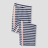 Cat & Jack Girls' Stripe With Side Tape Capri Legging Pant Cat & Jack - Navy