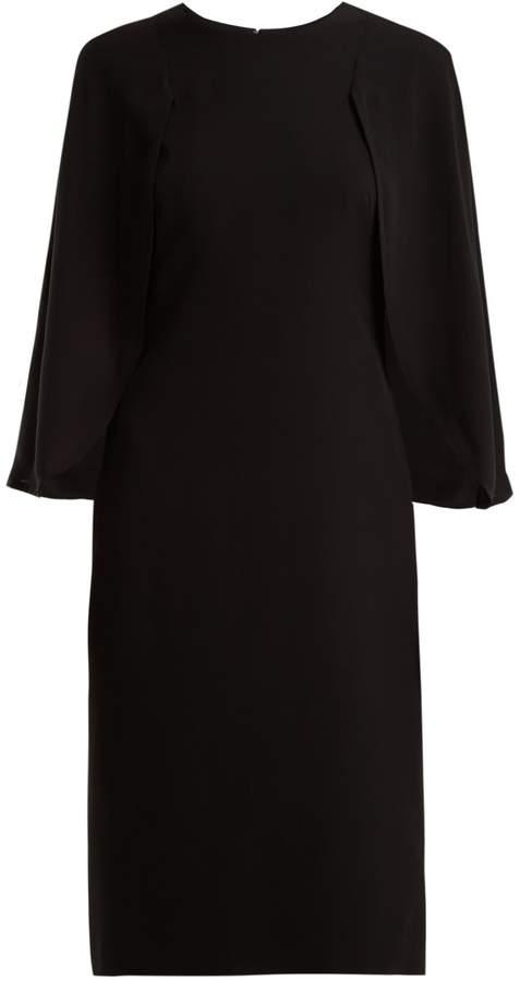 Givenchy Cape-detail silk crepe de Chine dress