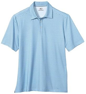 Johnston & Murphy XC4 Golf Club Polo (Blue) Men's Clothing