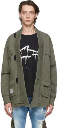 Greg Lauren Green Paul and Shark Edition Tactical Kimono Shirt