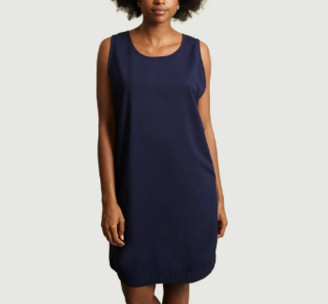 Gagan Paul - Blue Cotton and Polyester Reversible Dress - cotton and polyester | xs | blue - Blue/Blue