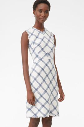 Rebecca Taylor Tailored Plaid Tweed Dress