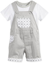 First Impressions 2-Pc. T-Shirt & Geo-Print Overall Set, Baby Boys (0-24 months), Only at Macy's