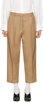 Acne Studios Beige Tabea Cropped Trousers