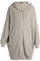 R 13 X-Oversized cotton-jersey zip-through sweater