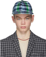 Thom Browne Blue Check Baseball Cap