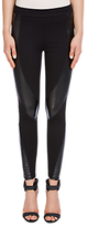 Oui Leatherette Trousers, Black