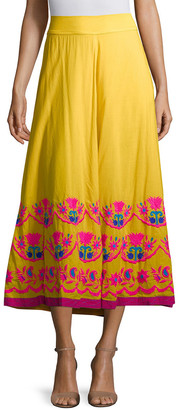 Christophe Sauvat Christopher Sauvat Cordoba Embroidered Maxi Skirt