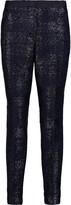 Iris and Ink Bernadette metallic tweed slim-leg pants