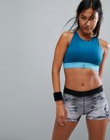adidas Training Halter Bra In Blue