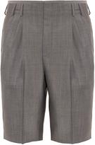 Balenciaga Micro-check tailored wool-blend shorts
