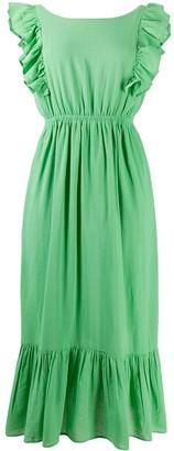 BA&SH Joyce ruffle-sleeve dress