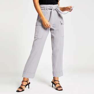 River Island Womens Grey utility peg trousers