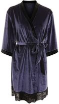 Topshop Velvet and Lace Robe