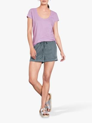 Hush Organic Cotton Slub T-Shirt, Purple