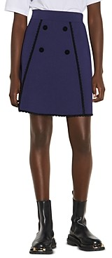 Sandro Jemy Button Front Skirt