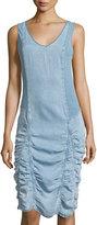 XCVI Meridian Ruched Sleeveless Dress, Ocean Wash