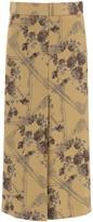 Thumbnail for your product : Ganni Jacquard Brocade Midi Skirt