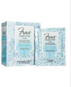 Frais Skin Revitalizer & Make-Up Remover Towelettes - Seven Towelettes in Sachets - 8 x 7.5 in